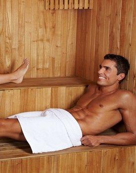 Hemels arrangement met sauna (1 persoon)